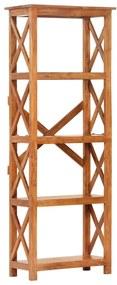 289625 vidaXL Bibliotecă lemn masiv acacia, finisaj sheesham, 60x30x180 cm