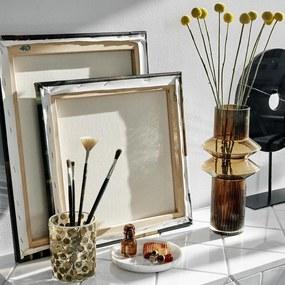 Vaza RILLA Maro din Sticla - Sticla Maro Diametru(8.5 cm) x Latime (15 cm) x Inaltime (32 cm)