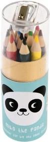 Set 12 creioane colorate cu suport Rex London Miko The Panda
