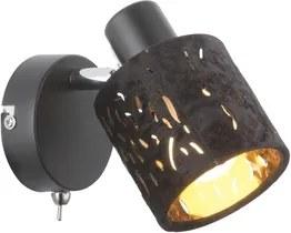 Aplica tip spot 1xE14 negru Troy Globo Lighting 54121-1
