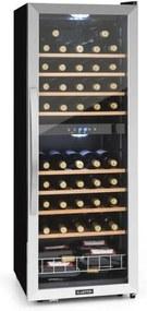 Klarstein KLARSTEIN VINAMOUR 54D,vinoteca, 2 zone, 148 L, 54 STICLE, din oțel inoxidabil, negru