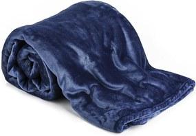 Pătură XXL / Cuvertură de pat, albastru închis, 200 x 220 cm