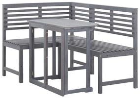 46327 vidaXL Set mobilier de balcon de colț, 2 piese, lemn masiv de acacia