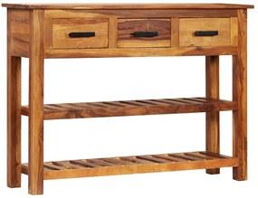 246158 vidaXL Servantă cu 3 sertare, 110x30x80 cm, lemn masiv de sheesham