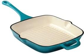 Tigaie Grill fonta emailata Cooking by Heinner, 27.5 cm HR-TNJ-KE27.5 HR-TNJ-KE27.5