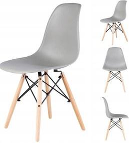 Set 4x Scaune Moderne pentru Bucatarie, Living, Sufragerie sau Exterior, Model PC-005, Culoare Gri