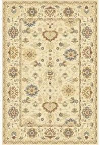 Covor lana Bella clasic, imprimeu floral, bej 80x150 cm