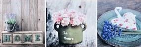 Tablou pe pânză - Decoration flowers, 50x150 cm