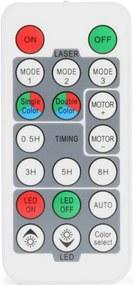 Beamz OUTDOOR LASER, Laser multipunct, 3W, LED-uri RGB, IRC, telecomandă, vârf de pământ