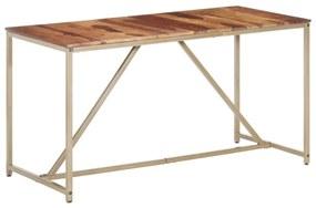286336 vidaXL Masă de bucătărie, 140 x 70 x 76 cm, lemn masiv de sheesham