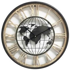 Ceas de perete Harta Lumii 47x4,5 cm