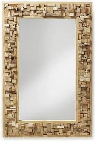 Oglinda cu rama din lemn tec 80x120 cm Yalana La Forma