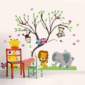 Sticker Monkey Animal Forest Tree -  Stickere Decorative BeeStick