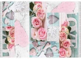 Covor 80x150 cm, model trandafiri, multicolor, SONIL TIP 2