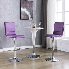 249638 vidaXL Scaune de bar, 2 buc., violet, piele artificială