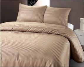 Lenjerie de pat din micropercal Zensation Dallas, 140 x 200 cm, maro