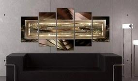Tablou - Gold thread 100x50 cm