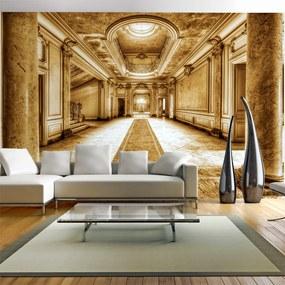 Fototapet Bimago - Mystery marble - sepia + Adeziv gratuit 250x175 cm