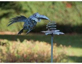 Figurina metal Flying bird, 130x30x27 cm