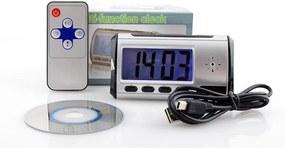 Ceas Iluminat cu Alarma si Camera Video Ascunsa pentru Inregistrare Spionaj