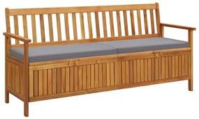 310278 vidaXL Bancă de depozitare cu pernă, 170 cm, lemn masiv de acacia