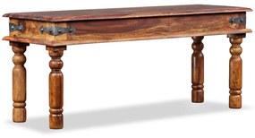 244354 vidaXL Bancă de castel, lemn masiv de sheesham, 110x35x45 cm