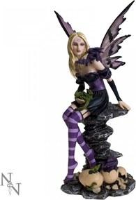 Statuetă Zâna Amethyst și puii de dragon