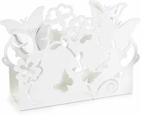 Suport pentru servetele metal alb cm 15 cm x 4 cm x 10 cm