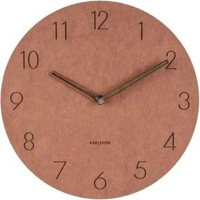 Ceas de perete din lemn Karlsson Dura, ⌀ 29 cm, maro