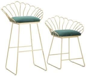 Set 2 scaune de bar GLAM FLOWER  (cm) 57X52X94-56X48X72,50