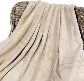 Goldea pătură din microfibră de calitate - maro deschis 150 x 200 cm