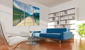 Tablou - Molo na jezeře 60x40 cm