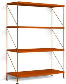 Biblioteca Tria, portocaliu, 125 x 96 x 36 cm