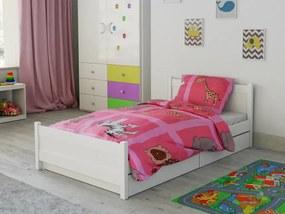Lenjerie de pat creponată pentru pătut Animale din Africa roz