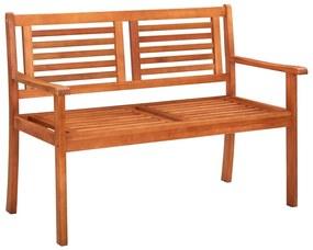 44398 vidaXL Bancă de grădină cu 2 locuri, 120 cm, lemn masiv de eucalipt