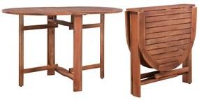 44019 vidaXL Masă de grădină, 120 x 70 x 74 cm, lemn masiv de acacia