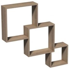 Raft de perete Modular, 65.5x10x65.5 cm, PAL Stejar Sonoma