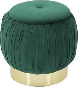 Taburet cu spațiu de depozitare Mauro Ferretti Paris, ø 41 cm, verde