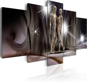 Tablou Bimago - Golden touch 100x50 cm