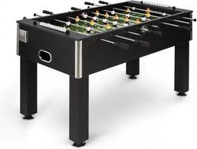 Klarfit Anfield, fotbal de masă, dimensiunile turneului, tije întregi de metal, rulment cu bile, negru