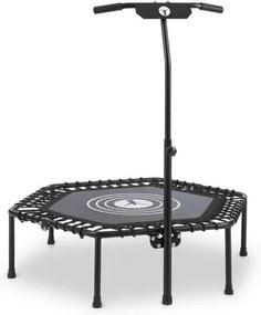 """Klarfit JUMPANATIC, trambulină fitness, 44 """"/ 112 cm Ø, mâner, pliabilă, culoare neagră"""