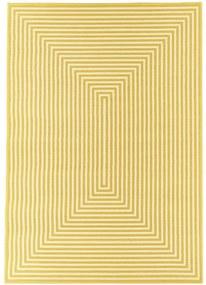 Covor foarte rezistent Floorita Braid, 133 x 190 cm, galben