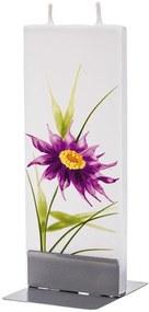 Lumanare plata pictata floare Flatyz