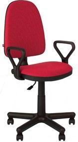 Scaun de birou PRIVILEGE GTP, Rosu-negru stofa cagliari