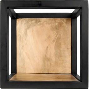 Poliță perete cu detalii din lemn de mango HSM collection Caria, 25 x 25 cm