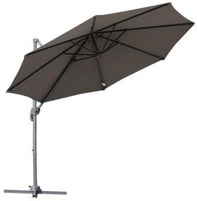 Outsunny Umbrela Soare Descentrata Unghi Inclinabil Rotatie la 360 de Gradina Φ294x248cm