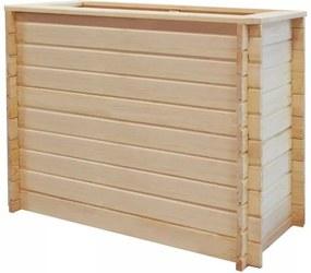 Jardinieră pentru grădină 100 x 50 x 80 cm, lemn de pin, 19 mm