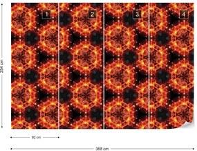 Fototapet GLIX - Kaleidoscope Red Light 2 + adeziv GRATUIT Papírová tapeta  - 254x184 cm