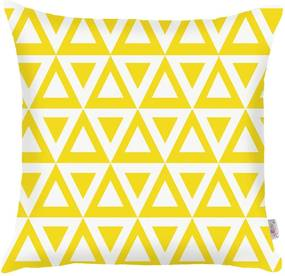 Față de pernă Apolena Triangle, 43 x 43 cm, galben