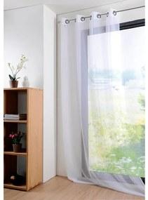 Perdea colorată MONNA albă, 135 x 260 cm set 2 buc